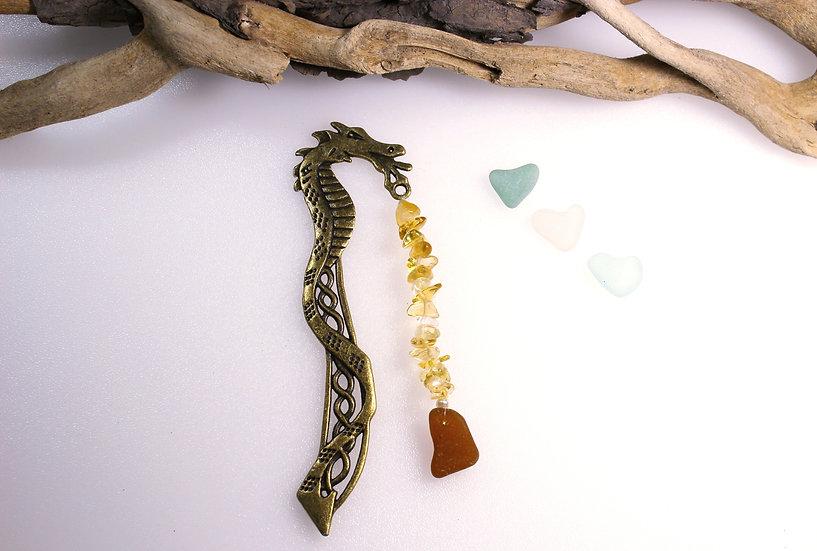 Bronze coloured Dragon Bookmark