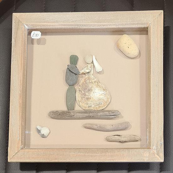 Wedding Couple - Pebble Art Picture