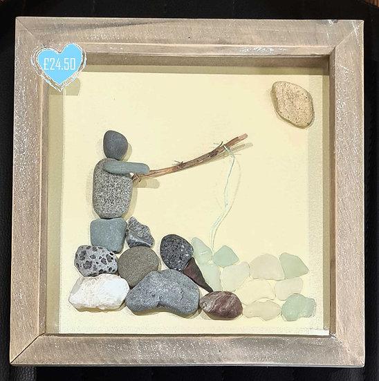 Fisherman - Pebble Art Picture