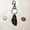 Thumbnail: Dark Brown Sea Glass Keyring (medium)
