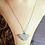 Thumbnail: Aqua Sea Glass Natural Heart Necklace