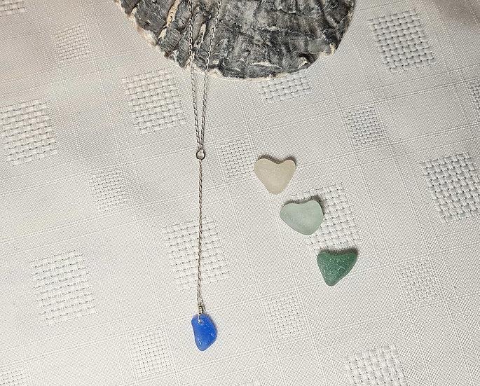 Rare Cornflour Blue Dropper Necklace
