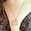 Thumbnail: White Sea Glass Silver Necklace