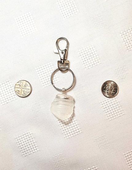 Bottle Top Small White Keyring