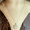 Thumbnail: White Sea Glass Heart Carved Necklace