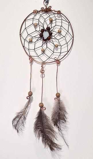 White Sea Glass Copper Dreamcatcher