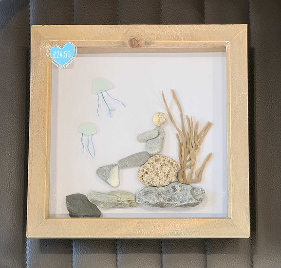 Mermaid Pebble Art Picture