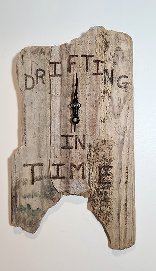"""""""Drifting In Time"""" Driftwood Clock"""