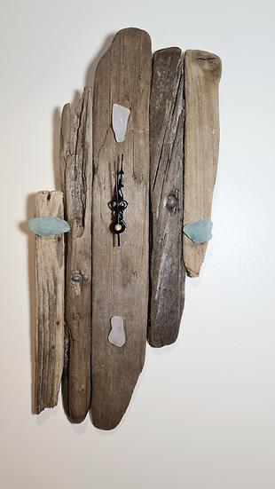 Sea Glass Driftwood Clock