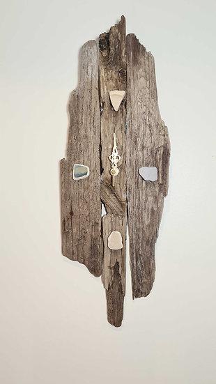 Sea China Natural Driftwood Clock
