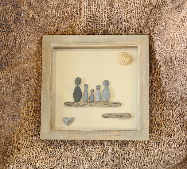 Pebble Family With 3 Children Picture