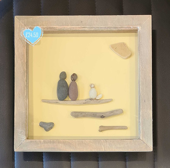 Pebble Couple with Cream coloured dog Picture
