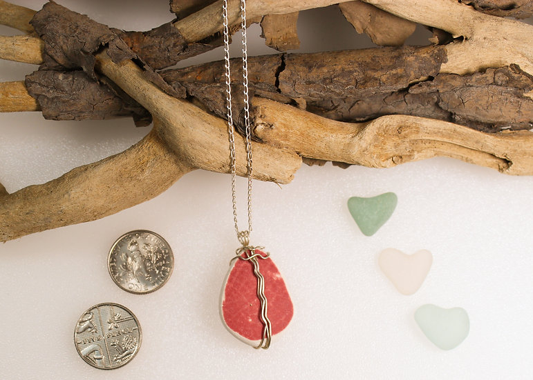 Pinky/Red Sea China Necklace