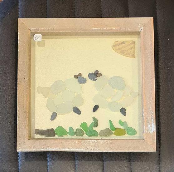 Sheep Sea Glass Picture