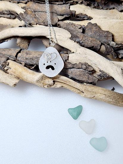 White Paw Print Necklace