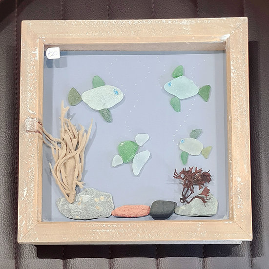 3 Fish - Pebble Art Picture