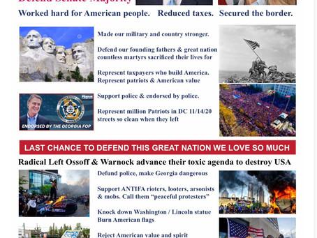 Patriotic Legal Immigrants USA Supports Perdue & Loeffler in the Georgia Runoff