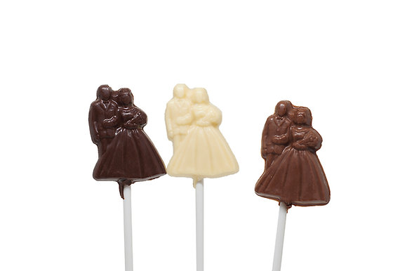 Small Newly Wed Chocolate Lollipop