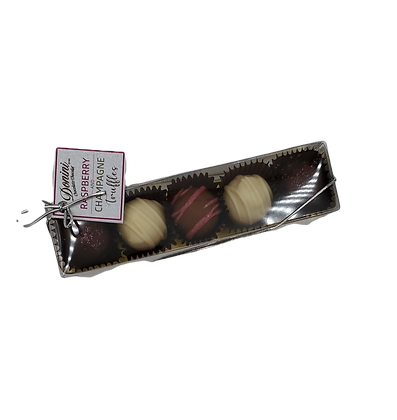 Raspberry and Champagne Truffles - 5 Piece