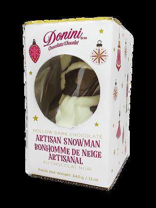 Hollow Dark Chocolate Artisan Snowman