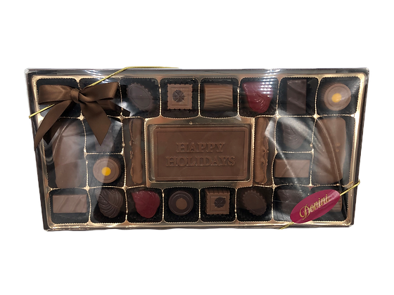 25 Piece Truffle with Happy Holiday Card
