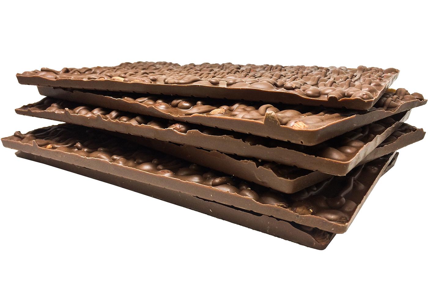 Donini Dark Chocolate Almond Bark Stack.jpg
