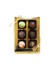 6pc Assorted Classic Handmade Truffles,