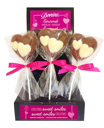 Milk Chocolate Heart Lollipop, 30g