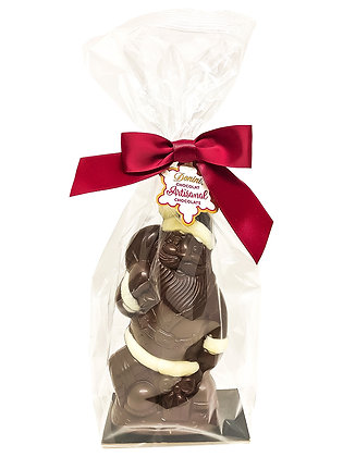 Dark Chocolate 3D Artisan Hollow Santa, 100g