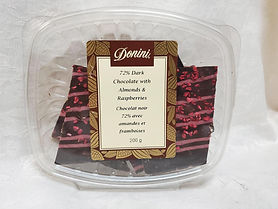 72% Dark Chocolate Raspberry Bark, 200g