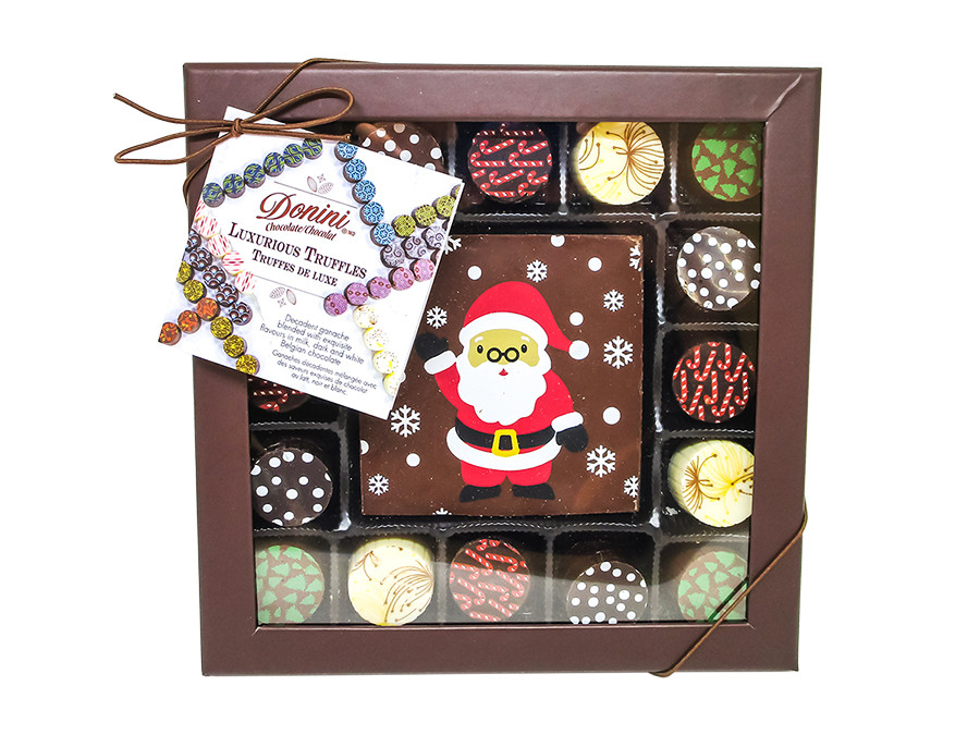 Packaged Snowy Santa with 16 pc. Truffles