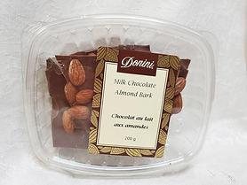 Milk Chocolate Almond Bark, 200g