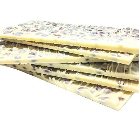 Donini White Chocolate Almond Bark Stack.jpg