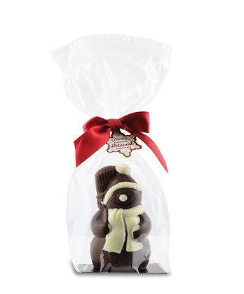 3D Artisan Dark Chocolate Hollow Snowman, 130 g