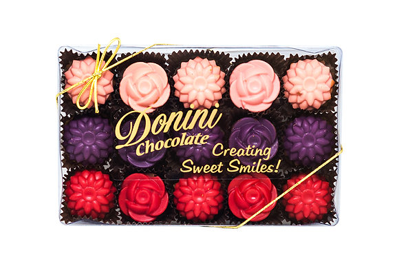 15 Piece Chocolate Flowers, 225 g