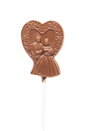 Couple Walk Heart Lollipop