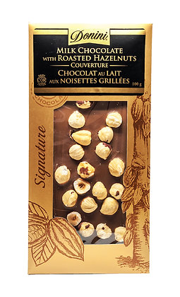 Couverture Milk Chocolate with Roasted Hazelnuts, 100g
