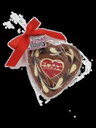 Milk Chocolate Heart with White Heart Insert