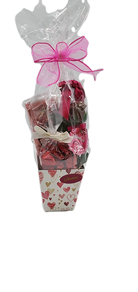 Small Dark Chocolate Valentine Basket