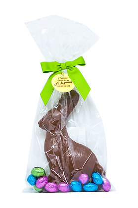 Milk Chocolate Easter Bunny with Foiled Eggs, 255 g