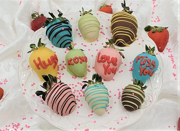 Sweetheart Conversation Chocolate Covered Strawberries