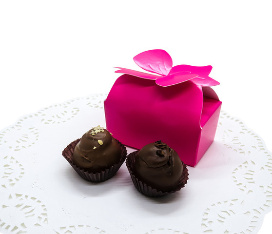 Pink Bow Truffle Box