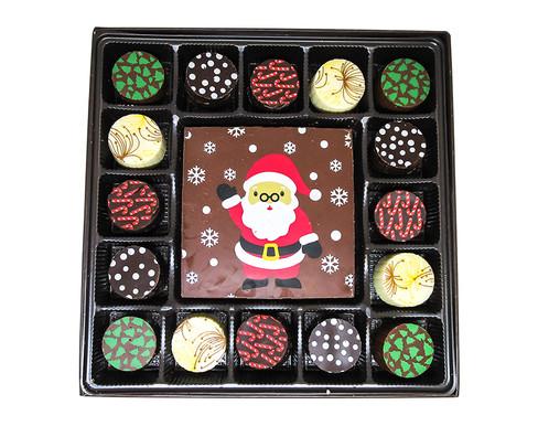 Snowy Santa with 16 pc. Truffles