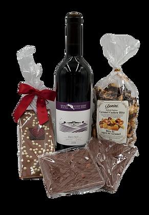 Red Wine & Chocolate Valentine Gift