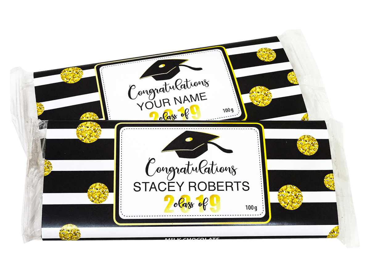 Congratulations in Black Stripes