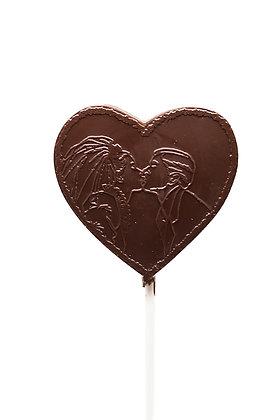 Couple Kiss Heart Lollipop