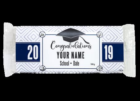 Congratulations in Blue Pattern