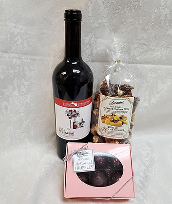 Wine with Champagne and Raspberry Truffles Gift