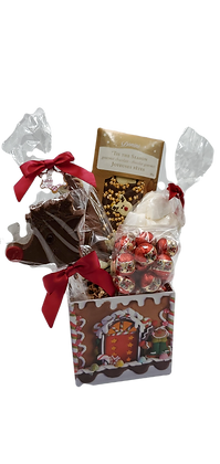 Small Gingerbread House Basket