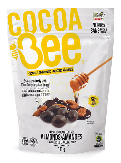 CocoaBee-Drk Chocolate Almonds-141g Bag.
